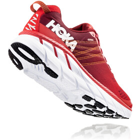 Hoka One One Clifton 6 Hardloopschoenen Heren, poppy red/rio red